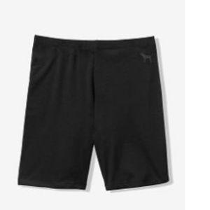 (S) Pink Victoria's secret bike shorts BLack